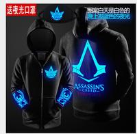 2017 Autumn Winter Assasins Creed Hoodie Men Black Cosplay Sweatshirt Costume Fleece Lined Assassins Creed Mens