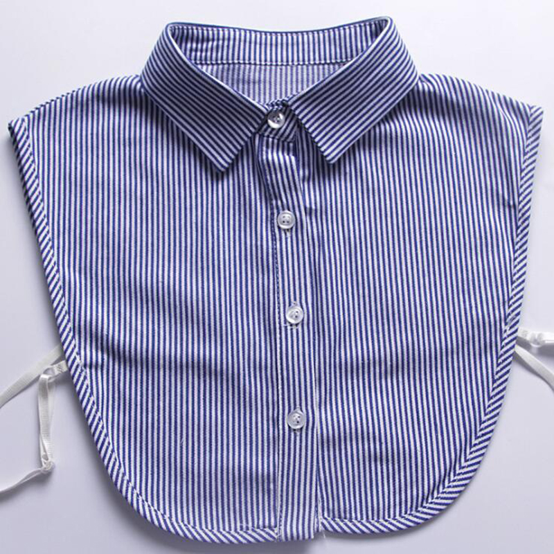 YSMILE Y Striped Shirt Fake Collar Detachable Shirt Sweater Fake Collar For Man And Women Clothes Accessories False Collar