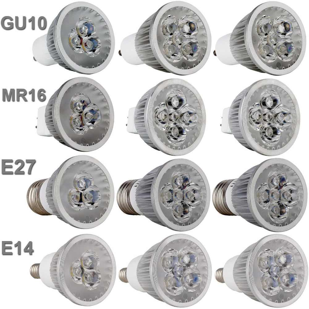 Led Bulb Light Spotlight GU10 E27 E14 3000K 4000K 6500k MR16 DC 12V 9W 12W 15W Replace Halogen Lamp AC 110 220V Energy Saving