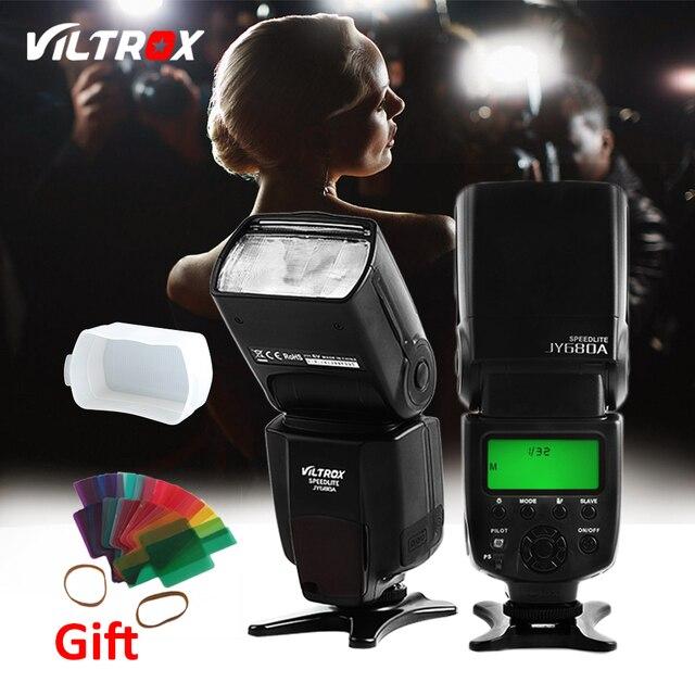 Viltrox JY-680A Flash Light Speedlite Đèn cho Canon Nikon Pentax Olympus Máy Ảnh + Miễn Phí Vận Bộ Khuếch Tán và 20 cái Lọc
