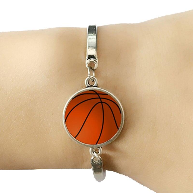 Basketball Charm Bracelet: Sport Basketball Bracelet Women Basketball Charm Bangle