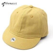 Fibonacci 2018 New High Quality Short Brim Cotton Baseball Cap Solid Color Adjustable Snapback Men Women for Hats