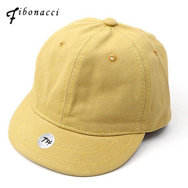 bf2163d7a94 Fibonacci 2018 New High Quality Short Brim Cotton Baseball Cap Solid Color  Adjustable Snapback Men Women