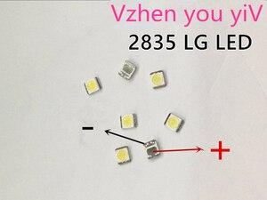 Image 1 - 1000 шт., светодиодный Светодиодный светильник LG Innotek для подсветки телевизора, 1210, 3528, 2835, 1 Вт, 100 лм, холодный белый цвет