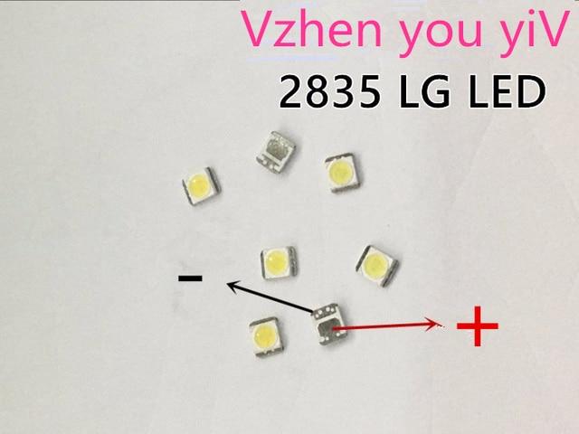 1000 шт., светодиодный Светодиодный светильник LG Innotek для подсветки телевизора, 1210, 3528, 2835, 1 Вт, 100 лм, холодный белый цвет
