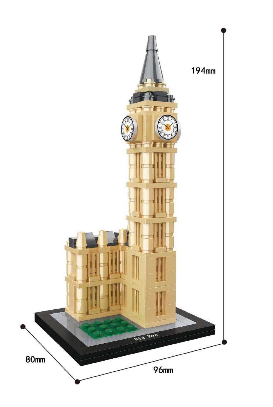 Replika Set Arhitektura Burj Khalifa 21031 Građevinski blok MOC - Izgradnja igračke - Foto 4