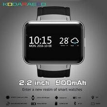 DM98 Relógio Inteligente Android MTK6572 1.2 Ghz 2.2 Polegada 900 mAh 512 MB de Ram 4 GB Rom 3G WCDMA Cartão SIM GPS WIFI Inteligente telefone do relógio dos homens