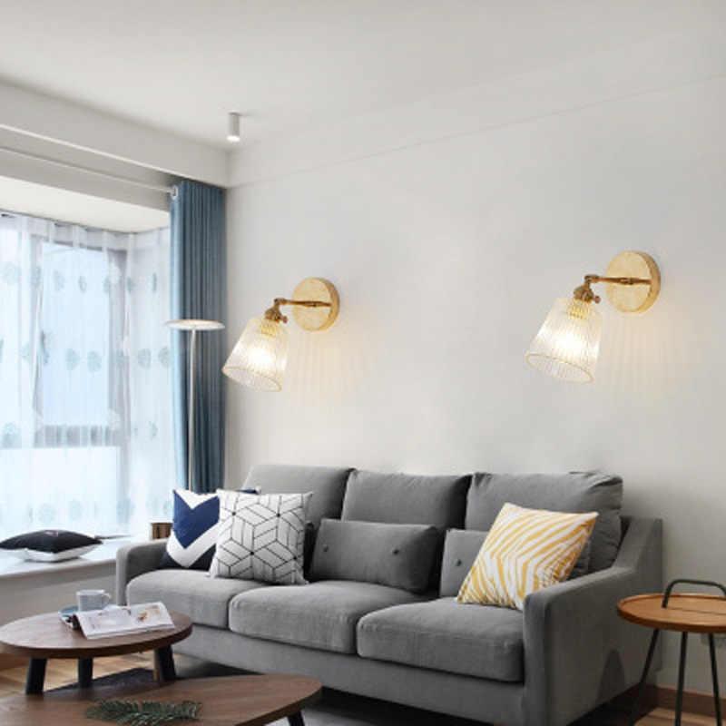 Amerikanischen retro einzigen kopf glas wand lampe schlafzimmer nacht korridor treppe innen kreative wand lampe