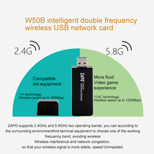 Super USB 3.0 Wifi Adapter Receiver Wireless Network Card AC 1200Mbps 802.11 a/b/n/g/ac 2.4GHz 5GHz Dual Band for Laptop Desktop