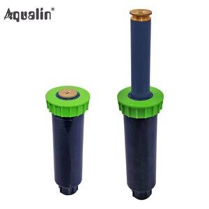 Image 1 - 90 360 stopni 4 sztuk/partia zraszacz ogrodowy automatyczny chowany System nawadniania miedziana dysza # GW00106