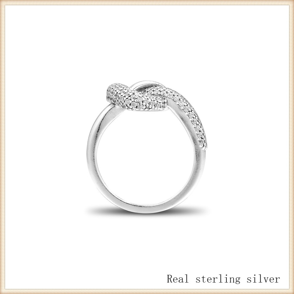Ring 100% 925 Sterling Silver Knotted Heart Ring for Women Girl Gift DIY Fine Jewelry SR203Ring 100% 925 Sterling Silver Knotted Heart Ring for Women Girl Gift DIY Fine Jewelry SR203