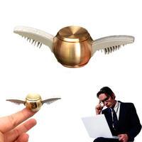 2017 Golden Fidget Spinner Metal Snitch Top Spinning Finger Spinner Cupid Wing Hand Spinner Gyro Anti Stress Fidget Toys Hot