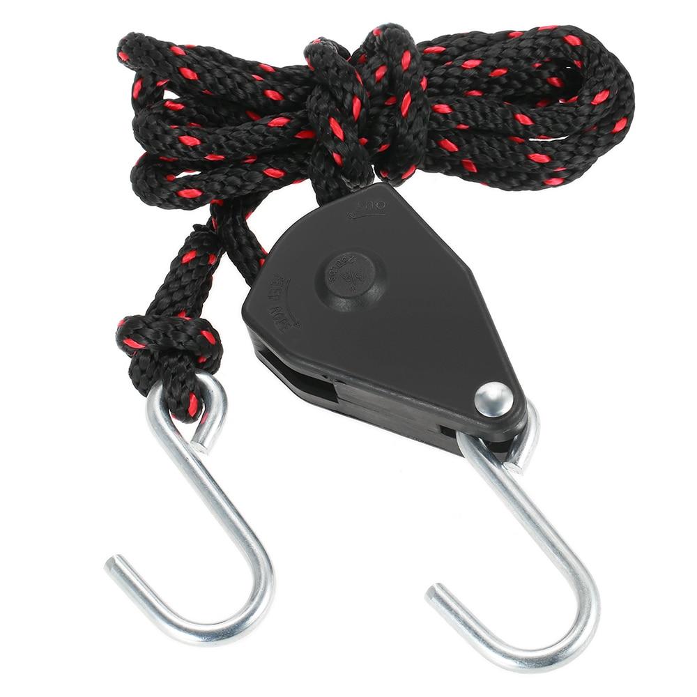 medium resolution of kayak canoe boat pulley rope lock bow stern tie down strap adjustable rope hanger with hook 3 0m