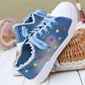 2017 New Arrival sneakers Women Denim Canvas Casual Shoes Flower tenis feminino Loafer Shoes Comfort shoes woman sapato feminino