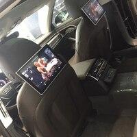 Plug And Play Автомобильная электроника видеоплеерам мониторы для 2017 Audi Q7 Авто DVD подголовник Android заднего сиденья ТВ экраны 11,8 дюймов