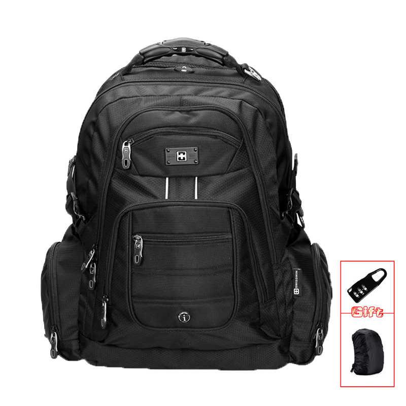 Мужская 15,6  ноутбук notobook рюкзак водонепроницаемый нейлон сумка для  ноутбука Бизнес большой дорожный 9a287c737a9