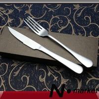 Yeni Yüksek Kalite Paslanmaz Çelik Gümüş Çatal ve Yemeği Biftek Bıçak Bir Set Resturant Düğün Masa Gerekliliği Sofra