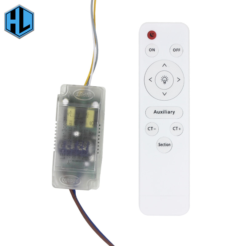 <font><b>12</b></font>-24Wx2 <font><b>LED</b></font> Safety Plastic Driver AC85-265V <font><b>LED</b></font> Driver Power Transformer with Infrared Remote Control for <font><b>LED</b></font> Lighting image
