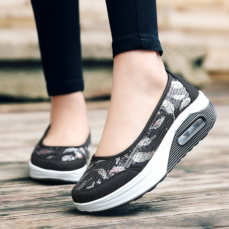 New Designer Wedges Platform Sneakers Women Vulcanize Shoes Slip On Casual Female Shoes Woman Tenis Feminino 2018 Spring Summer new women s vulcanize shoes spring summer slip on sneakers black casual shoes women breathable hollow out woman sneakers