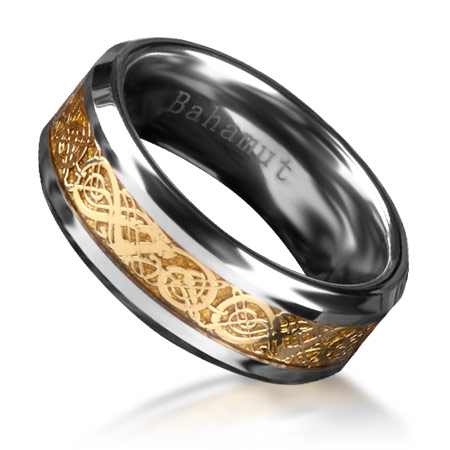 The Ring of the Nibelungs Richard Wagner Der Ring Des Nibelungen Tungsten Ring Mens Jewelry Free Shipping