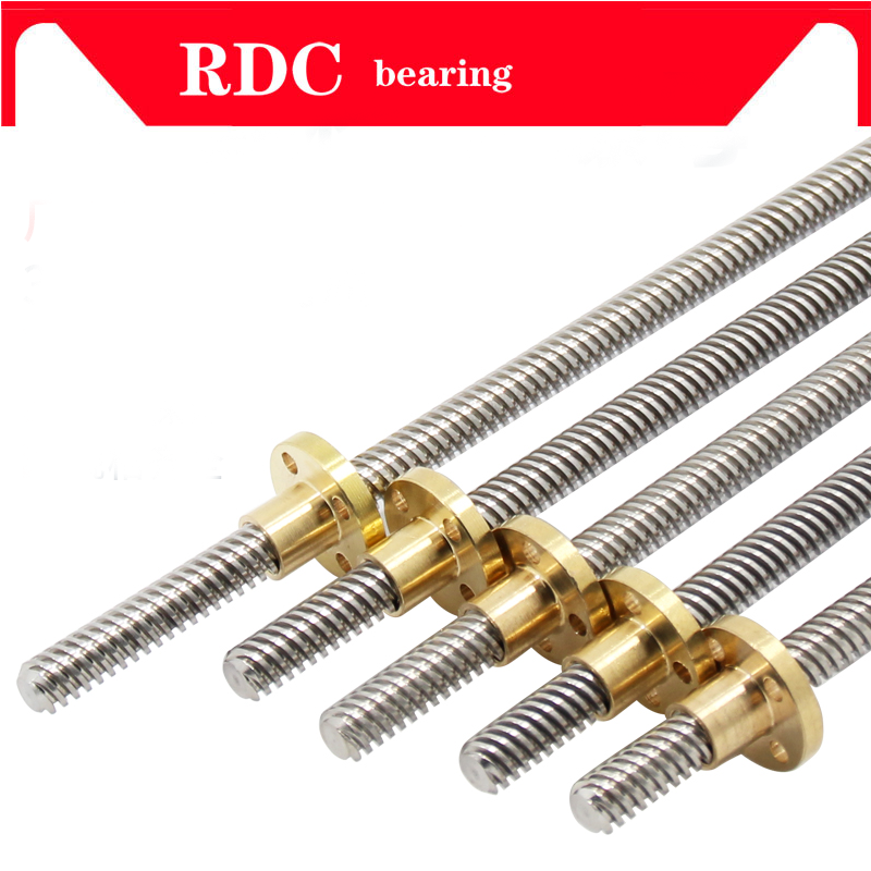 Free shipping 3D Printer &CNC THSL-500-8D Length 600mm T-type Stepper Motor Trapezoidal Lead Screw 8MM Thread 8mm T8 free shipping 10pcs 3d printer m8 trapezoidal screw for supporting all the copper nut stepper motor guide screw for lead screw