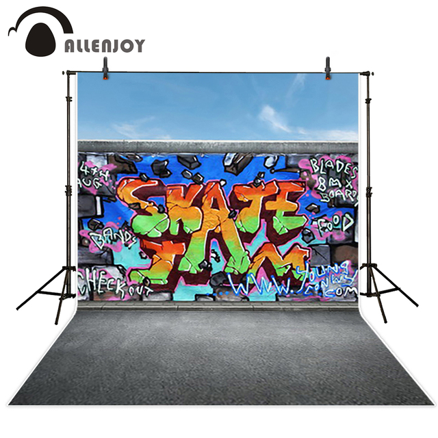 Allenjoy Photo Background Graffiti Outdoor Cool Young Teenagers Party Fotografia Photo Booth Background For Photo Studio