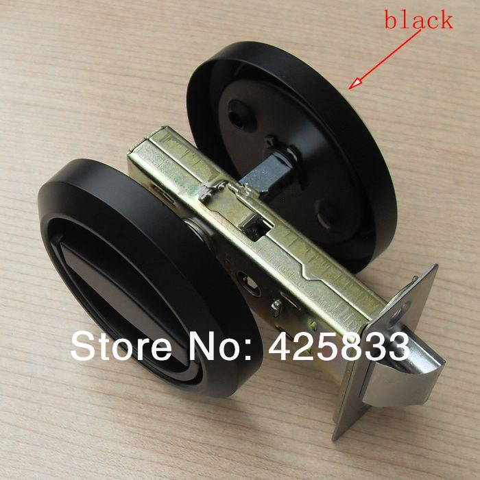 Well known Fashion Black Stainless Steel Recessed Hood lock Cup Handle Hidden  RK49