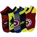Nueva 5prs/lot marvel Héroes Serie Superman Capitán América Calcetines Largos calcetines de Los Hombres y de Las Mujeres