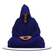 Медитационная одежда в стиле Дзен мужской халат Китайский с капюшоном медитация Подушка Одежда шаолиньских монахов TA546
