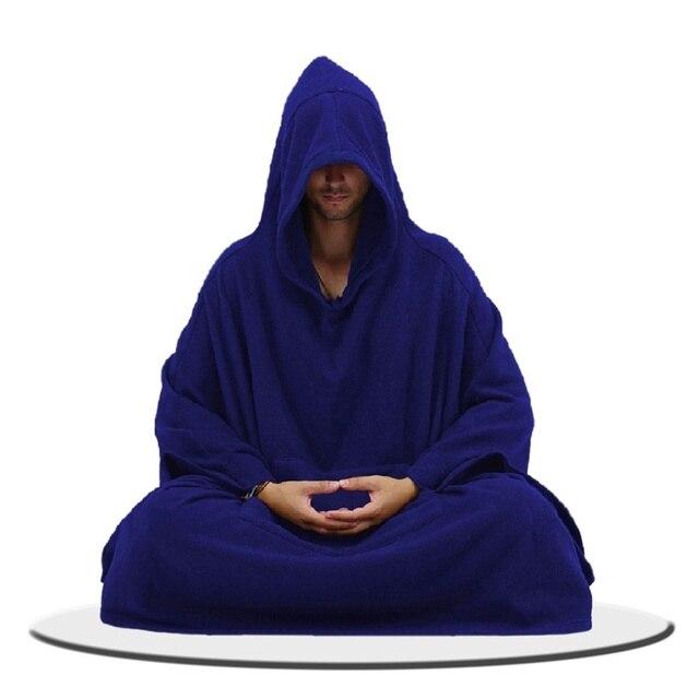 Медитация дзэн одежда мужской халат в китайском стиле с капюшоном подушка для медитации форма для боевых искусств одежда TA546