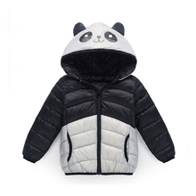 Cute 2017 New Girls And Boys Panda Parkas Kids Hooded Coat Filling Cotton Winter Outwear Cotton Jacket For Children Down & Parka