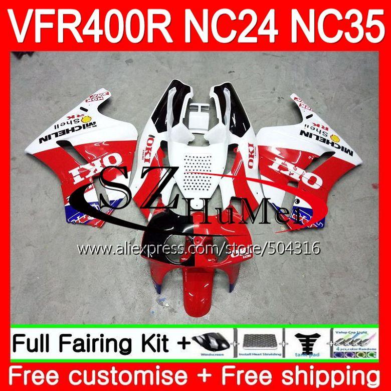 152e3cfb RVF400R Красный Белый для HONDA VFR400 Р РЎРў NC24 VFR400R 87 88 94 95 96  125SH