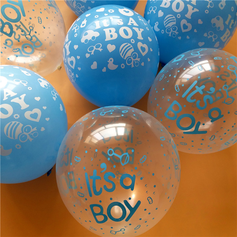 30pcs lot happy birthday decoration balloon clear blue for Balloon decoration for birthday boy
