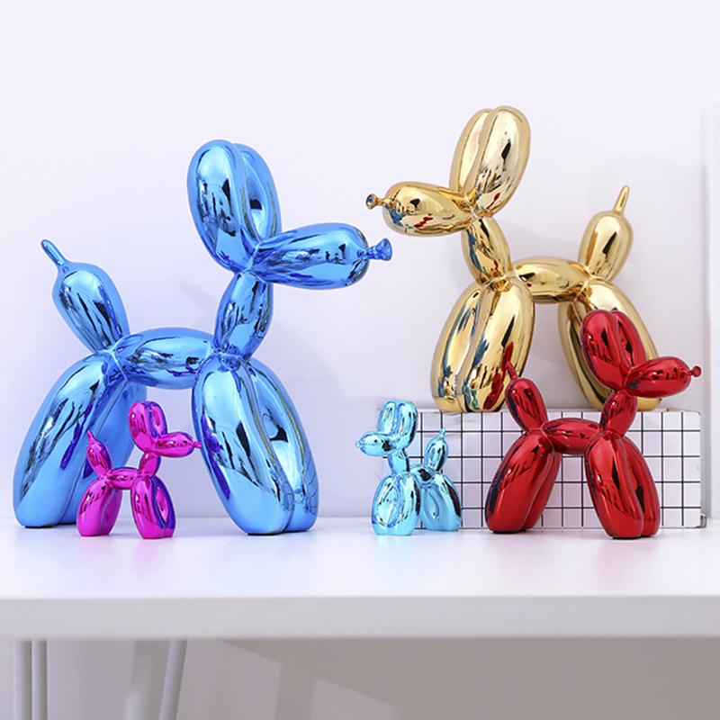 Image 2 - Jeff Koons Shiny Balloon Dog Abstract Crafts Resin Statue Home Decor Art Sculpture Home Decoration Accessories-in Statues & Sculptures from Home & Garden