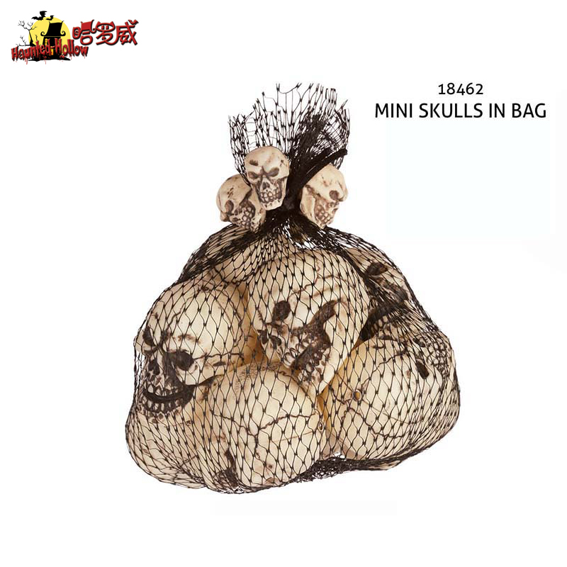 12PCS 5X4X3CM Halloween Decoration Products Halloween Bar Supermarket Menhouses Props Casual Dolls Small Plastic Skulls
