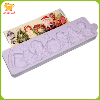 High quality flexible silicone mold  Fondant Mold  Christmas lace mold