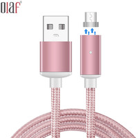 Olaf Magnetic Cable Micro Usb Data For IPhone 7 6 5s 6s Plus Nylon Charging Cable