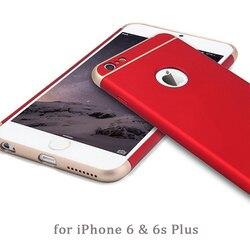 Luxe 3 en 1 Anti-Chute Complet Du Corps Mince Couverture 360 pour Apple iPhone 8 7 6 6 s Plus funda Logo Trou Capinhas Coque Accessoires