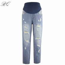 RQ Maternity Pants for Pregnant Women Cotton Maternity Leggings Clothing Pregnant Women Pregnancy Trousers Maternity Jeans KZ6