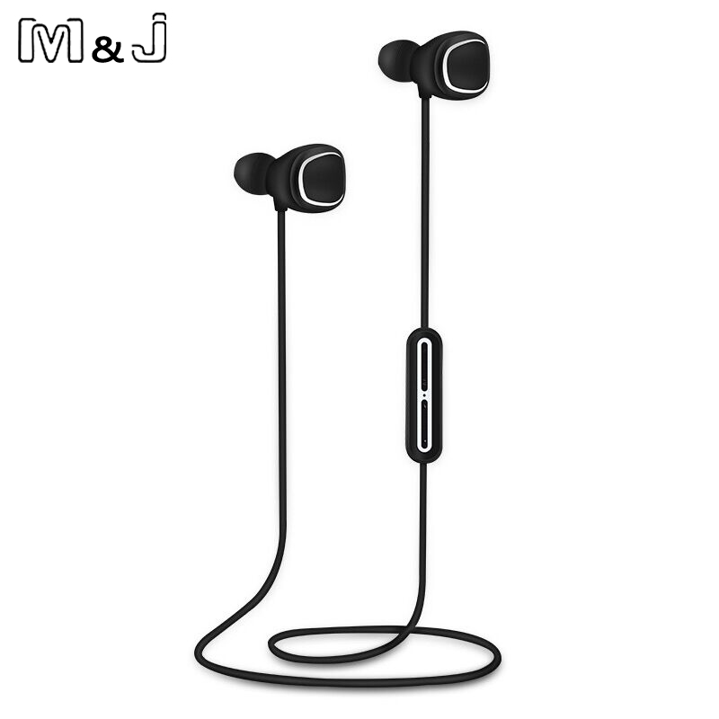 M&J  Wireless Headphones Noise Cancelling Headset (5 EQ modes) Bluetooth Earbuds IPX4 Water Resistant Sport Headset with Mic цена и фото