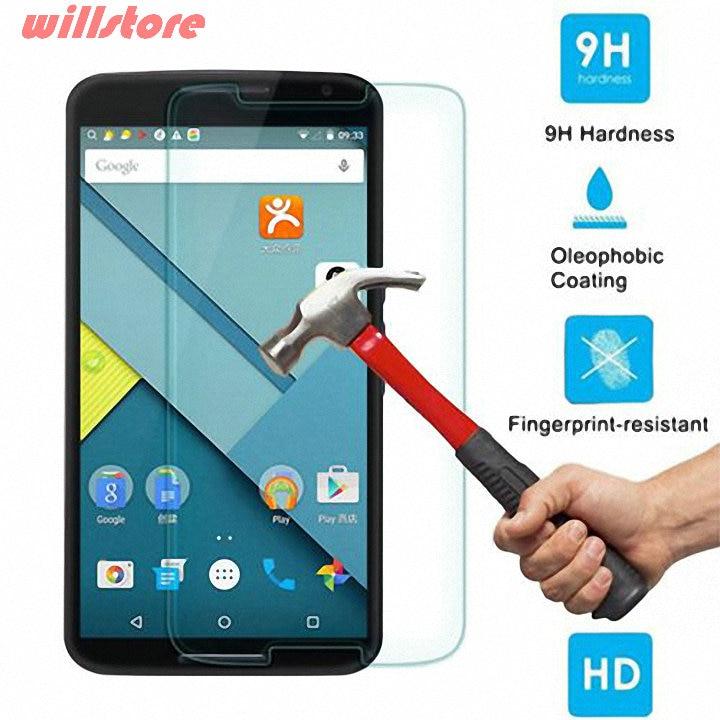 Original härdat glas skärmskydd skyddsfilm för Google LG Nexus 4 5 6 Nexus 5X Huawei Nexus 6P glasskyddsfilm