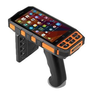 Image 3 - SM DT510 escáner de código de barras portátil Android inalámbrico, resistente, Bluetooth 4G, Wifi, POS, Terminal LF RFID UHF, lector PDA con agarre de pistola