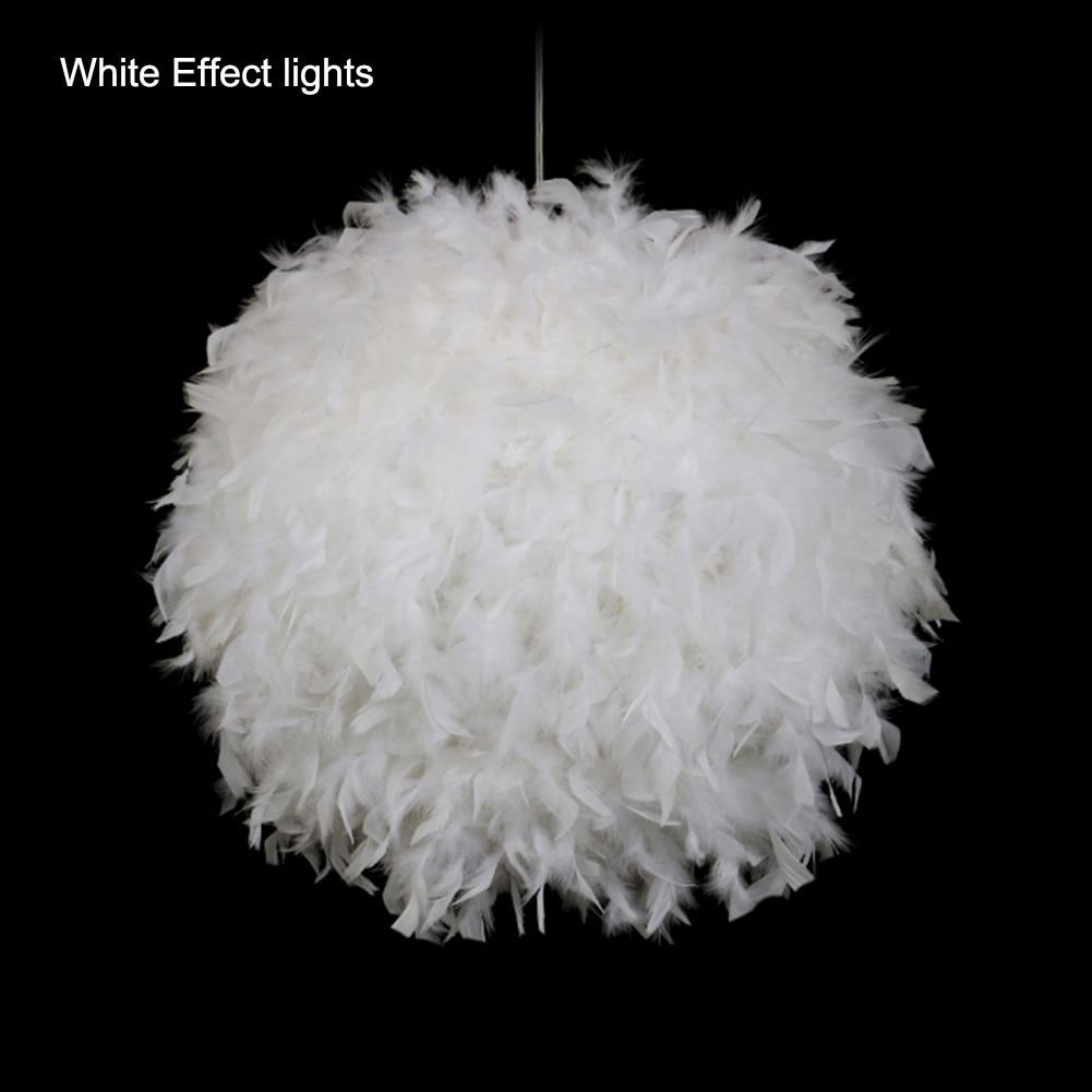 Modern Luxury Feather Pingente Luminaria Lamparas Droplight
