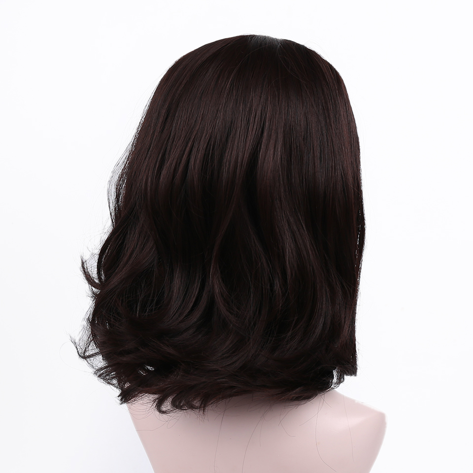 Short Curly Half Head Sets Wig for Women Halloween Party Heat Resistant Synthetic Hair Accessories Wig   Headwear