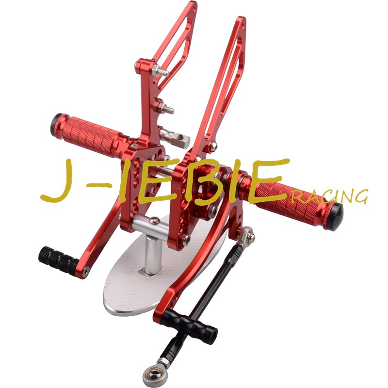 CNC Racing Rearset Adjustable Rear Sets Foot pegs Fit For Suzuki GSXR1000 GSXR 1000 K5 2005 2006 RED