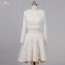 yiaibridal RSW1260 Long Sleeve Champagne Wedding Dresses