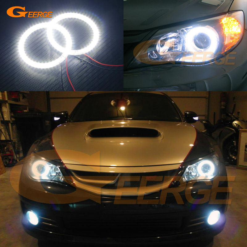 For Subaru Impreza WRX STI 2008 2009 2010 2011 2012 2013 2014 Excellent Ultra bright illumination smd led angel eyes kit hot sale for subaru f1 style rear fog lights red lens subaru wrx vag 2014 sti vab 2014 xv 2012 impreza gp 2011