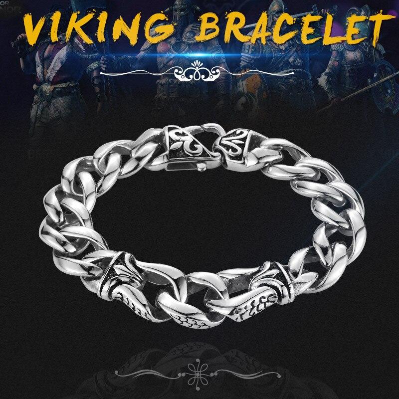 316L de acero inoxidable precio al por mayor pulsera Punk vikingo joyería para hombre envío de la gota de moda joyería de LBC8-006
