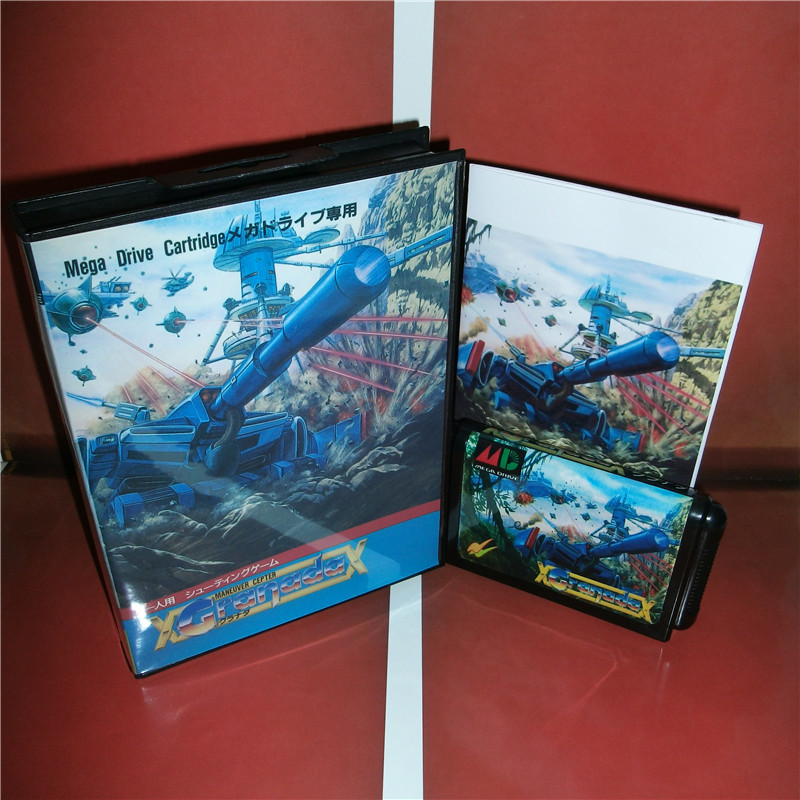 Granada Japan Cover with box and manual for Sega MegaDrive Genesis Video Game Console 16 bit MD card