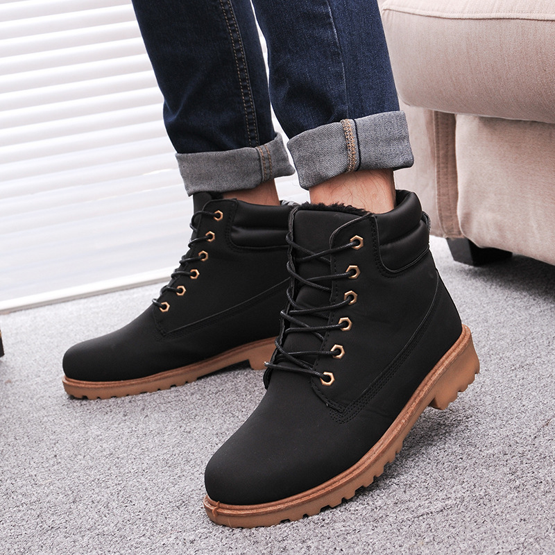 Aliexpress.com : Buy Men Winter Boots 2016 new PU Leather men ...